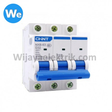 MCB CHINT NXB-63 3Phase 6kA 50A
