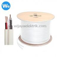 Kabel Spectra RG6 + Power Putih